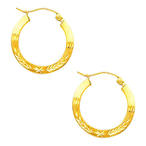 Fancy Hoop Earring-0.75 Inches