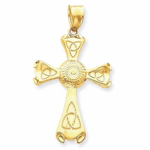 Gold Celtic Triquetra Cross