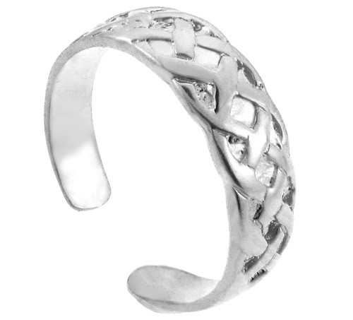 The Bold Silver Trinity Knot Toe Ring