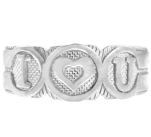 "Silver ""I Heart U"" Toe Ring"