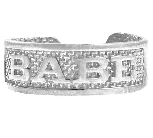 "Silver ""BABE"" Toe Ring"