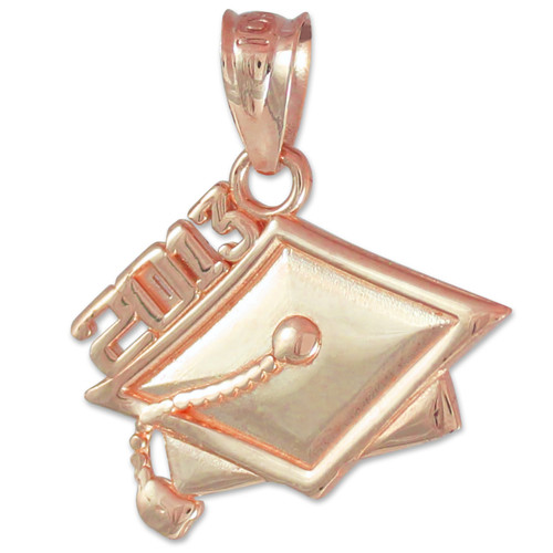 Rose Gold 2013 Graduation Charm Pendant