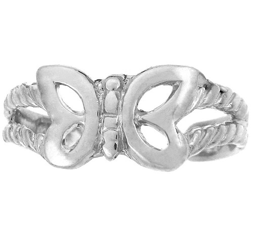 925 Sterling Silver Butterfly Toe Ring