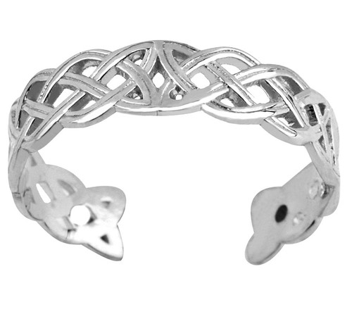 Silver Celtic Trinity Toe Ring