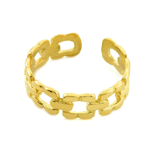 Gold Chain Link Toe Ring
