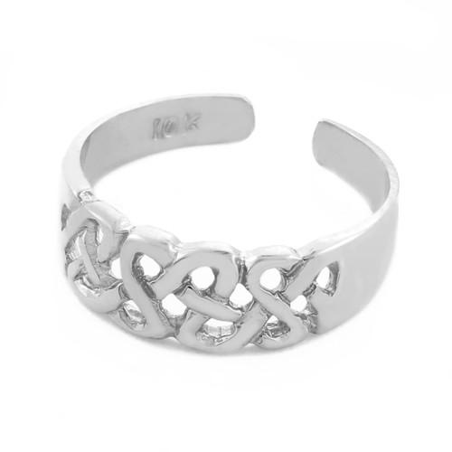 Trinity Knot White Gold Toe Ring
