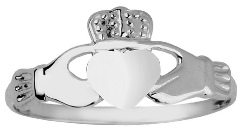 Silver Ladies Claddagh Ring