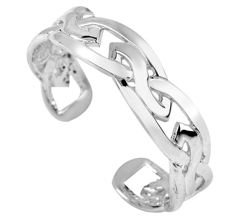 925 Sterling Silver Trinity Toe Ring