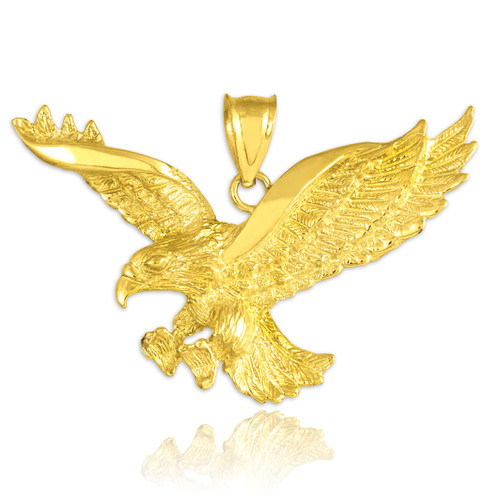 Gold Flying Eagle Pendant