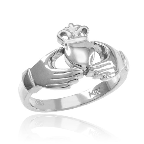 Sterling Silver Classic Claddagh Engagement Ring