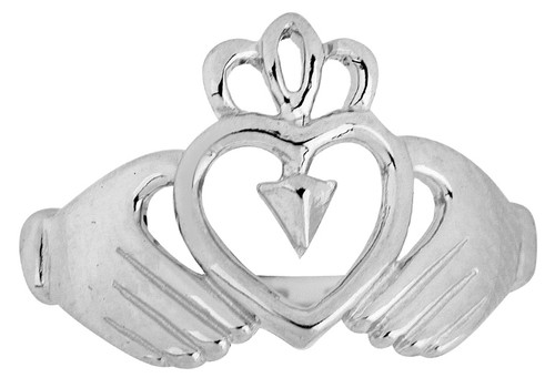 Ladies Claddagh Silver Ring