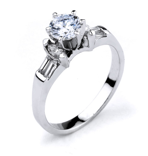 14k Gold Cubic Zirconia Engagement Ring