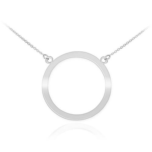 14K White Gold Circle Of Life Karma Necklace