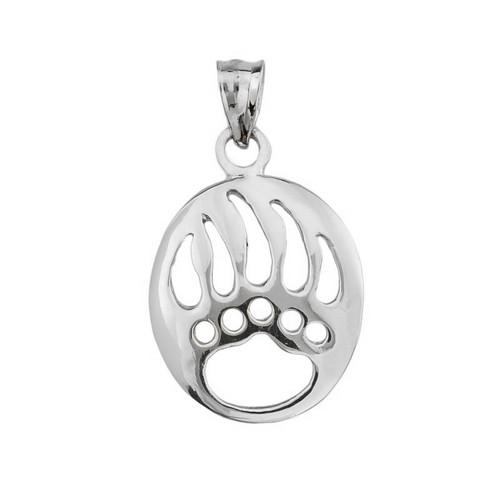 Sterling Silver Bear Paw Print Pendant