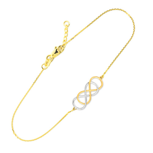Two-tone Gold Double Infinity Bracelet