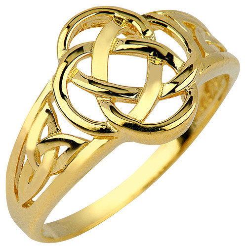 Gold Trinity Ring Ladies.  Available in your choice of 14k or 10k.