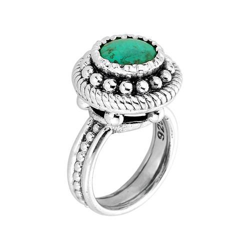 Sterling Silver Turquoise Ladies Ring