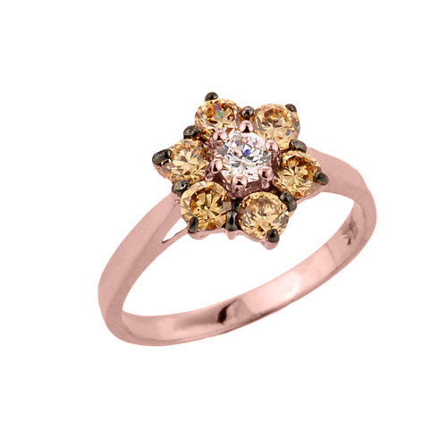 14k Rose Gold Diamond Proposal Ring