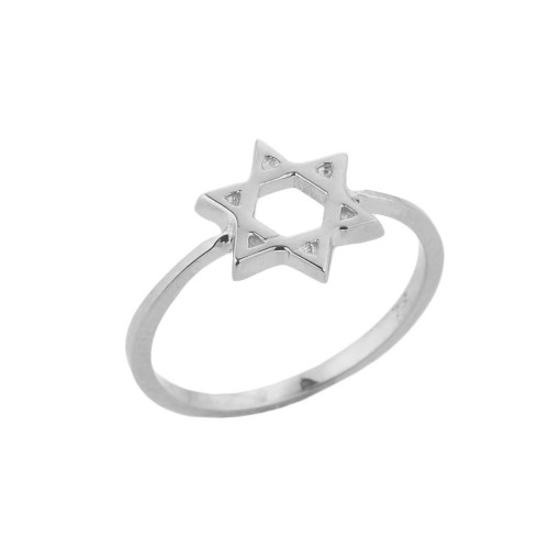 Sterling Silver Jewish Star of David Ring
