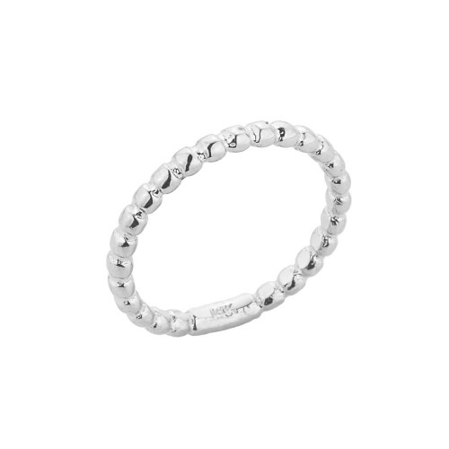 White Gold Ball Chain Bead Knuckle Ring