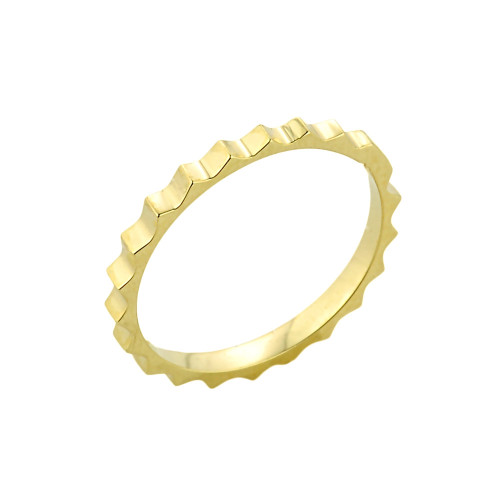 Gold Spiked Knuckle Ring