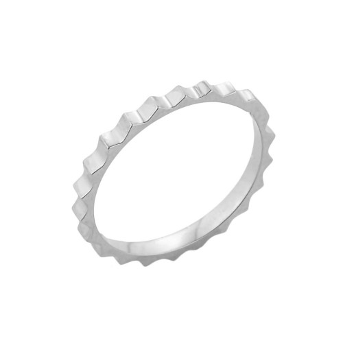 White Gold Spiked Knuckle Ring