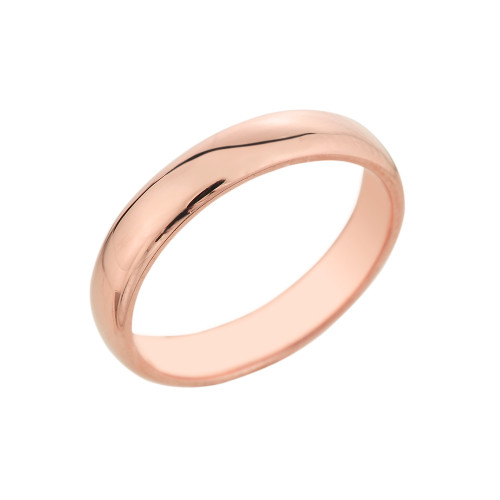Rose Gold Classic Wedding Band - 4MM