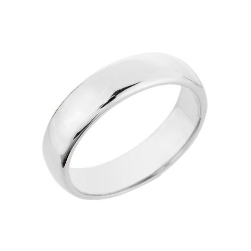 White Gold Classic Wedding Band 5MM