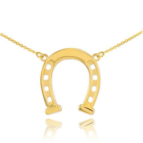 14k Gold Horseshoe Necklace