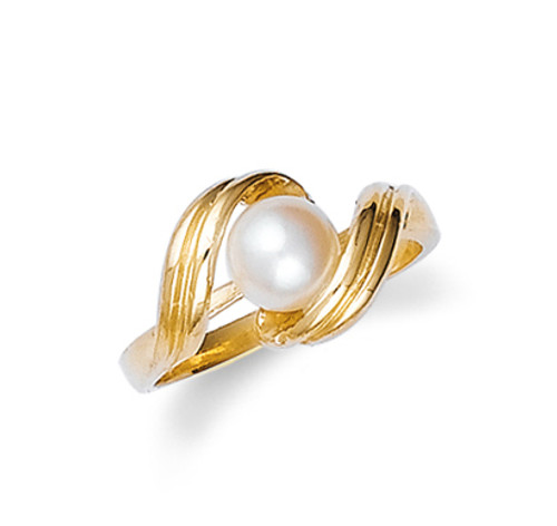 Gold Pearl Ring Ladies