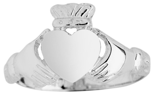 Silver Claddagh Ladies Classic Ring