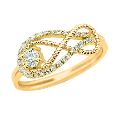 Diamond Infinity Ring in Yellow Gold