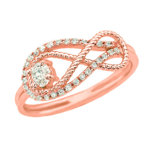 Diamond Infinity Ring in Rose Gold