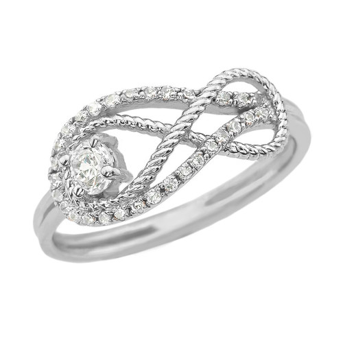 Diamond Infinity Ring in White Gold