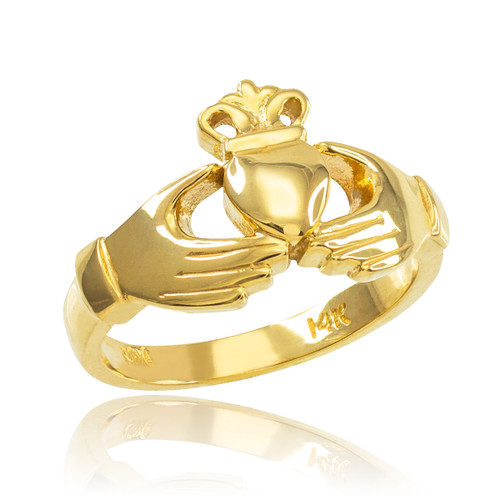 Gold Classic Claddagh Engagement Ring
