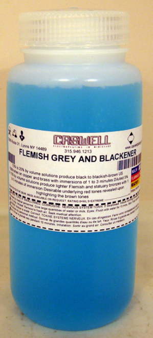 Flemish Grey Blackener For Copper, Brass and Bronze 1US Pint (473ml)