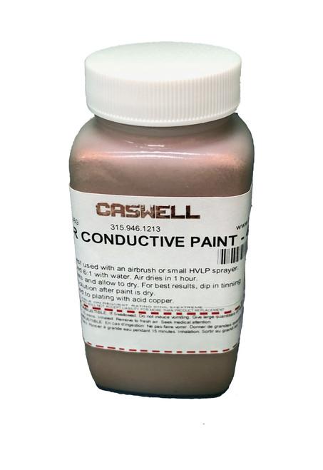 Copper Conductive Paint: 4oz US (118.29ml)  Chrome, Plastic, Leather etc