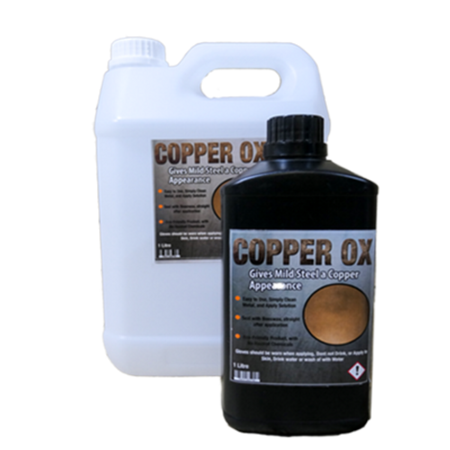 Copper-Ox (Turns Mild Steel to a copper or rust effect)