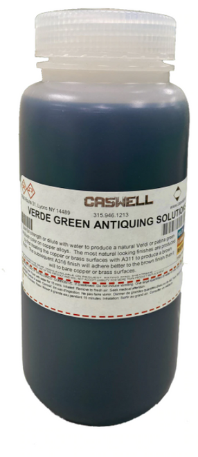 Verde Green Antiquing Oxidizer 1 US Pint (473ml)