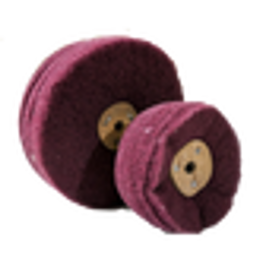 Non Woven Cloth Buffing Wheel  100x6Px10 240 Grit