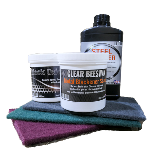 Black Oxide Gel Kit for Blackening Steel