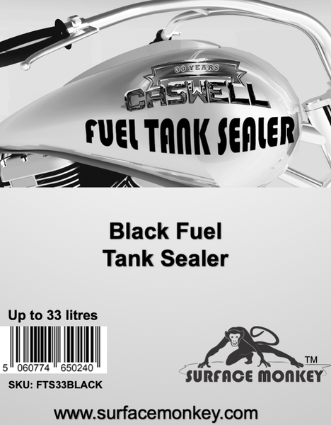 Caswell BLACK Fuel Tank Sealer Up To 33 Litres