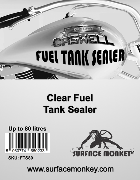 Caswell Clear Fuel Tank Sealer Up To 80 Litres