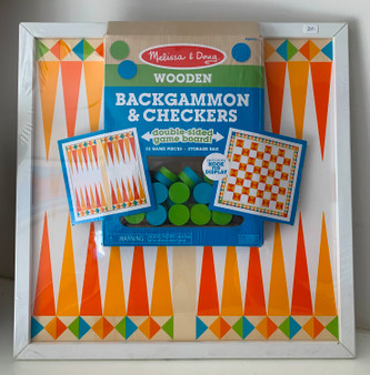 Backgammon & Checkers Game Board