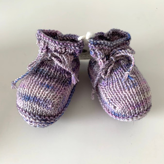 Lilac Booties 3-6 mo