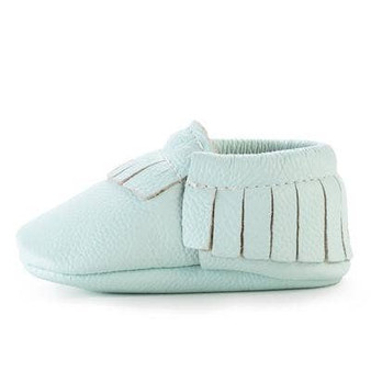 Seafood Green  Leather Baby Moccasin