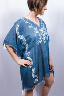 Embroidered Cotton Cover-Up