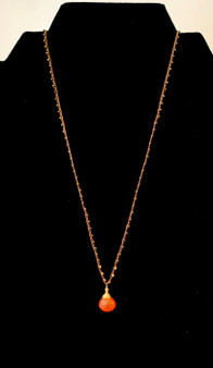 Silk Braided Cornelian Necklace