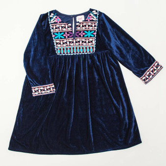 Navy Velvet Banjara Dress