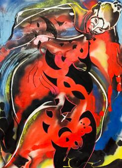 'Red Diabless' -  by Artist Tamangoh Vancayseele